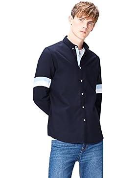 FIND Camicia a Righe in Cotone Slim Fit Uomo