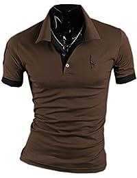 SOMTHRON Hombre Camisas de Polo de Manga Corta de Algodón Más el Tamaño de Manga Delgada Camisas de Golf y Tenis Informal…