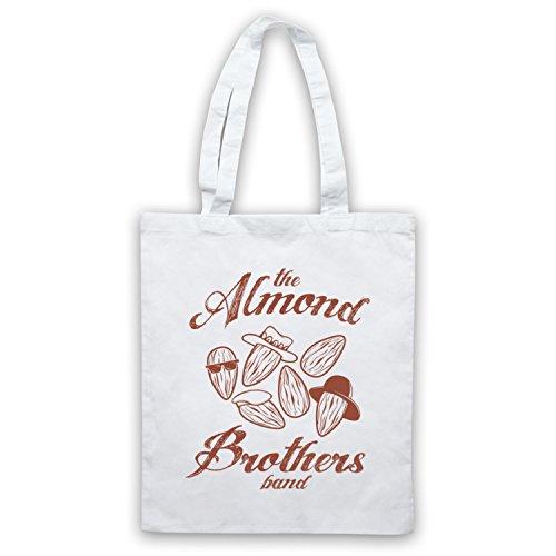 MANDORLA Brothers Band Rock Band borsa custodia Bianco