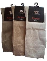 3 Paar RS Sneaker Herren Bambus Socken mit Softrand 3 Grautöne 39 bis 46