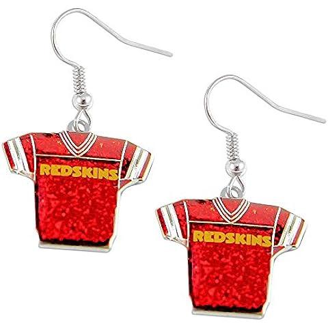 NFL Washington Redskins Jerseys chispa holyskinz logo pendiente brillo conjunto regalo encanto