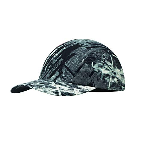 Buff Erwachsene Pro Patterned Run Cap, R-City Grey, One Size Polyester Pro Mesh Cap