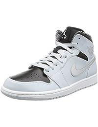 Nike Air Jordan 1 Mid, Chaussures de Sport Homme, Noir (Schwarz), Taille