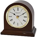 Mecanismo de cuarzo de madera/Batería de chimenea de/reloj con bisel dorado, esfera blanca, números romanos y manoslibres 06431