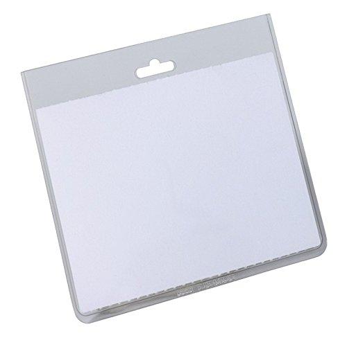 Preisvergleich Produktbild Durable 813519 Namensschilderhülle (geschlossene Tasche, 60 x 90 mm, transparente Hartfolie) Packung à 20 Stück, transparent