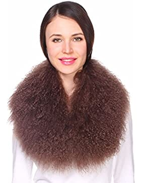 Ferand Collo di Pelliccia di Lana di Agnello della Mongolia per Donna per Parka Giacche e Cappotti