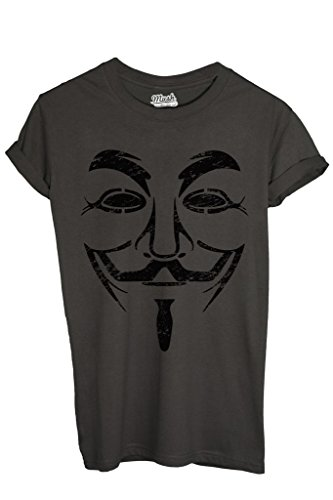 T-Shirt V FOR VENDETTA DESTROYED - FILM by MUSH Dress Your Style - Uomo-M-ANTRACITE