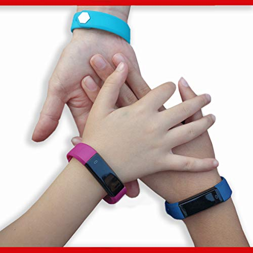 Fitness Tracker für Kinder von Trendy Pro, Smartwatch, Activity Tracker, mit 2 Armbändern, Kinder, TRENDY PRO, Black and Color Band (Deluxe Turquoise), Deluxe