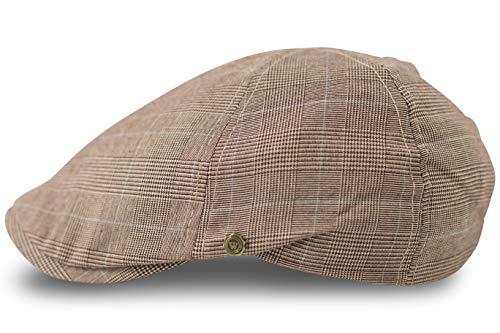 FashionCHIMP Flat-Cap Schiebermütze in Leichter Sommer-Qualität, Golfermütze (Beige)