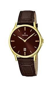 Festina - F16747-3 - Montre Homme - Quartz Analogique - Cadran Marron - Bracelet Cuir Marron