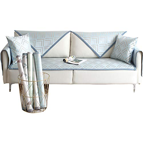 Große Atmungsaktive Slips (JR%L Sofa Protector Sommer Ice Seide Mat Atmungsaktive Nicht-Slip Schnitt Multi-größe Sofa Überwürfe Sofabezüge-a 28x71inch(70x180cm))