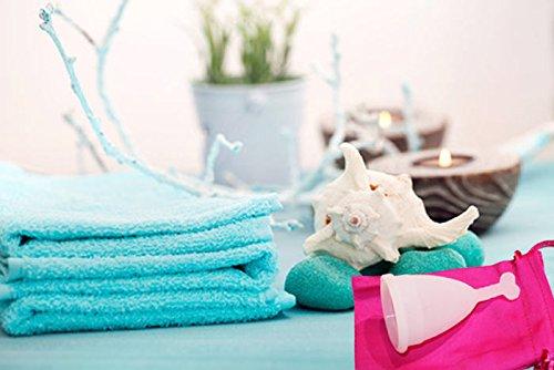 Menstruationstasse CozyCup klein - weiße Menstruationskappe aus medizinischem Silikon - beliebter Menstruationsbecher - Gr A (klein) - 5