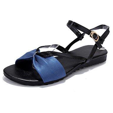Sandali Primavera Estate Autunno luce Comfort suole PU outdoor Abbigliamento Sportivo tacco piatto Bowknot fibbia Blue
