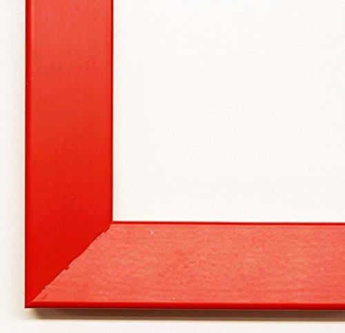 Spiegel Wandspiegel Badspiegel Flurspiegel Garderobenspiegel - Über 200 Größen - SENTO V Rot lackiert 3,3 - Außenmaß des Spiegels 30 x 40 - Wunschmaße auf Anfrage - Modern, Vintage