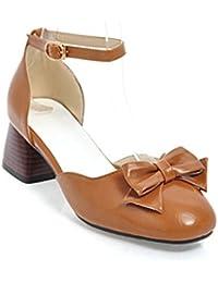 LSM-Sandales MEI&S La Place des Femmes Bloc Toe Heels Flip Flop,35,Rose
