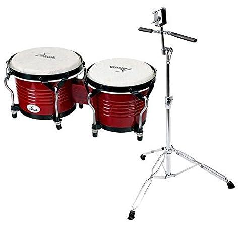 XDrum Bongo Pro Vintage SET incl. pied de bongos