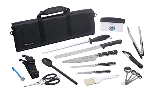 Messermeister 18-Piece Meridian Elite Premium Culinary Student Set, Black by Messermeister