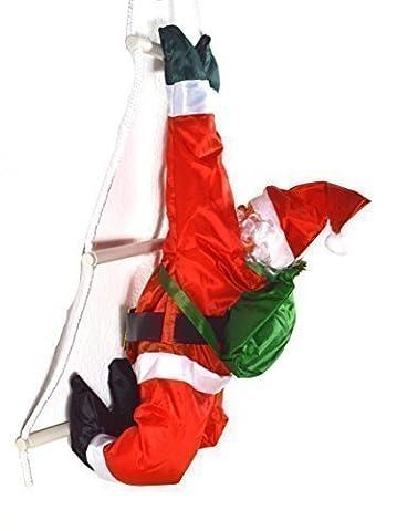 Weihnachtsmann auf einer Leiter ca. 69 cm Weihnachtsdekoration für Innen und Aussen