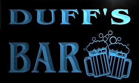 w002058-b DUFF'S Nom Accueil Bar Pub Beer Mugs Cheers Neon Sign Biere Enseigne Lumineuse