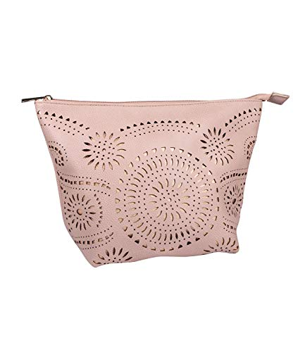 sche, Mini Bag, Beauty Bag mit Cut Out Mustern, Mandala, metallic, rosa (129-734) ()