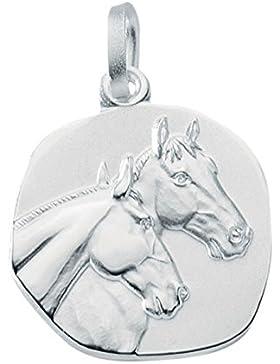 Pferdekopf Anhänger Kettenanhänger aus 925 Sterling Silber