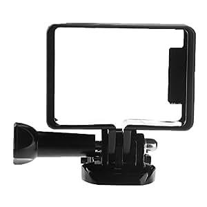 niceeshop(TM) Plastique Frame Standard Mont Protégez Shell avec le Mont Base pour GoPro Hero 3 3+ 4 Caméra (noir)