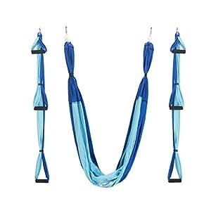 QUBABOBO Yoga Schaukel Nylon Taft T210 Anti-Schwerkraft Hängematte Schlinge Inversion für Pilates Gymnastik mit 664lb…