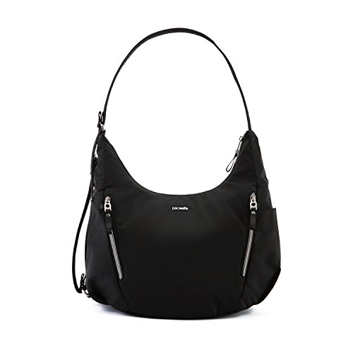 PacSafe Stylsafe Anti-Theft Convertible Crossbody Bag Umhängetasche, 38 cm, 10 liters, Schwarz (Black 100)