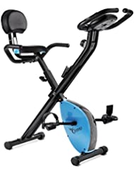Fitfiu BEST-X2000 Bicicleta Estática Plegable con Respaldo, Unisex adulto, Gris, Única