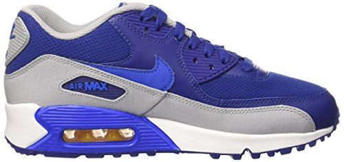 Nike Unisex-Kinder Air Max 90 Mesh Gs Low-Top Azul (Dp Ryl Blue / Hypr Cblt-Vrsty Mz)