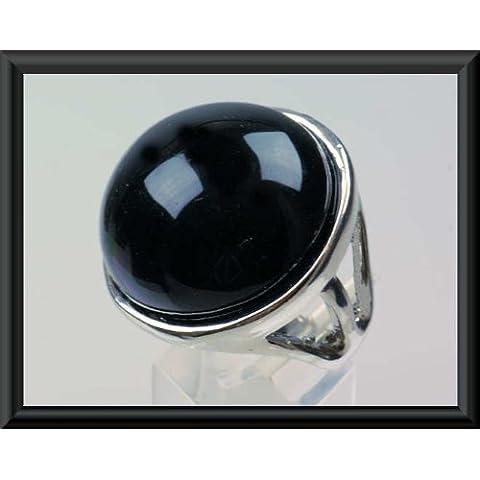Onyx joyería joyas (imitación moda la preciosas - piedra señoras Anillo ónice Fingerschmuck de piedras calidad tamaño las 17 mm alta ) con