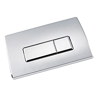 Square Chrome Pneumatic Toilet Concealed Cistern Large Flush Plate WC Button ALLIZ