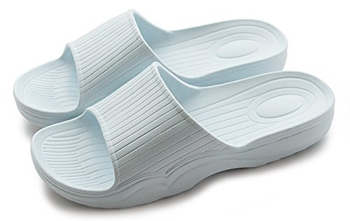 Auspicious beginning Indoor pantofole comodi sandali di colore solido per adulti Blu