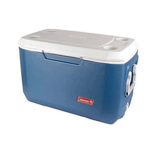 Coleman 70QT Campingküche Kühlbox, Mehrfarbig (Blau/weiß), 66 Liter