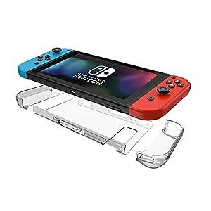 AVIDET Assorbimento Degli Urti e Anti-graffio PC indietro Custodia case per Nintendo Switch (Trasparente)