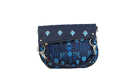 Desigual Damen Handtasche Tasche Schultertasche THALASSA FOLDED Blau 18SAXPEJ-5000