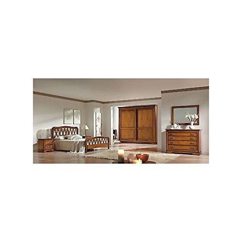 Estea mobili - camera matrimoniale completa armadio letto como comodino specchio legno massello - 121221895295 - come foto