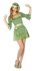 Atosa- Disfraz mujer duende, Color verde, M-L (14758)