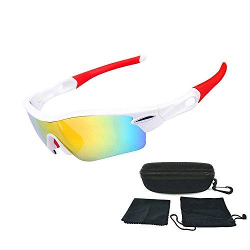 ZHIYIJIA Fahrradbrille Sportbrille Sonnenbrille Polarisierte UV400 Schutz Stilvoll für Herren und Damen