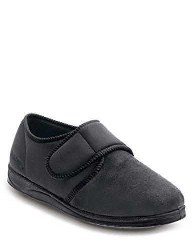 Mens Padders Wide G Fitting Slipper Noir