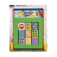 TREMENDOUS TOYS WOODEN 8 IN 1 LEARNING CART, ACTIVITY CENTRER, WALKER FOR KIDS AGED 18 MONTH PLUS