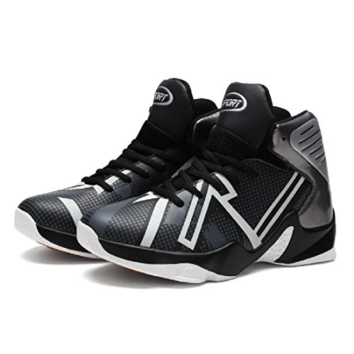 Uomo Inverno Taglia larga Scarpe da pallacanestro Moda Scarpe sportive formatori Tenere caldo Piede di protezione euro DIMENSIONE 37-46 black