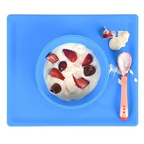 Placemat Silicone Antidérapant pour Bébés et Enfants, Bols Lave-Vaisselle Safe