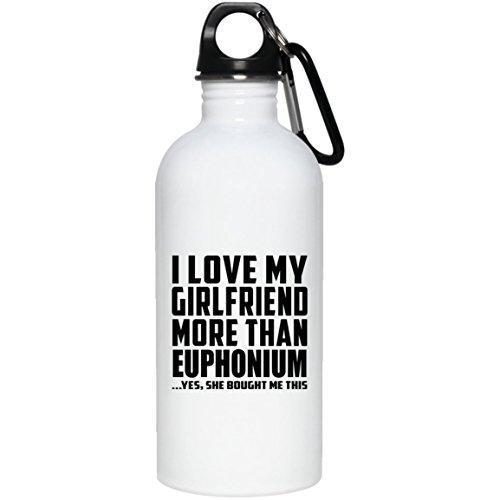 Designsify Boyfriend Trinkflasche–Ich liebe meine Freundin als Euphonium kaufen Sie mir. '– Trinkflasche, Edelstahl, Becher, Geschenk für Männer, Herren, BF-Geschenk