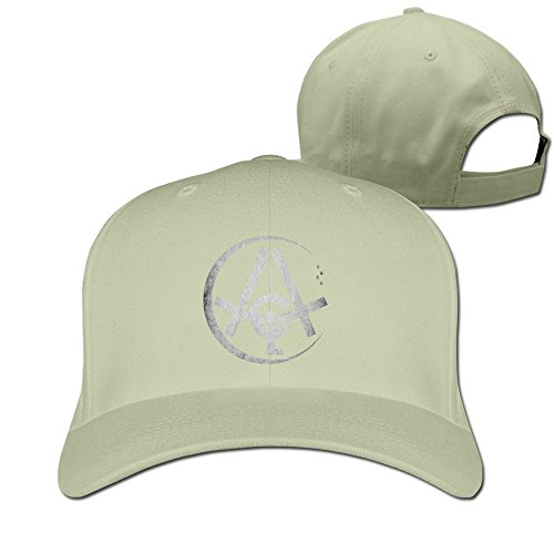 Hittings CoCe Men's August Alsina This Thing Called Life Song Cry Logo Solid Cap Nature Cotton Natural