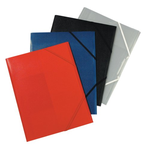Herlitz Gummizugmappe PP A4 farbig sortiert 3er Packung