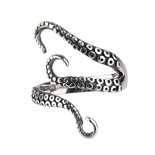 Beauty7-Modetrend Punk Krake Ring Party Ring Gothik Ring-Gothic Deep sea Octopus finger ring