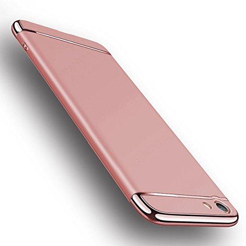 SPL New Chrome 3IN1 Luxury Full body Protective Back cover for VIVO V5 / VIVO V5s (Rose Gold)