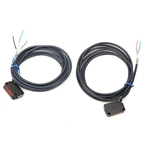 Jadpes Lichtschrankensensor E3Z-T61 DC 12-24 V IR Lichtschrankensensor-Schalter NPN-Ausgang für automatische Geräte - T61-kabel
