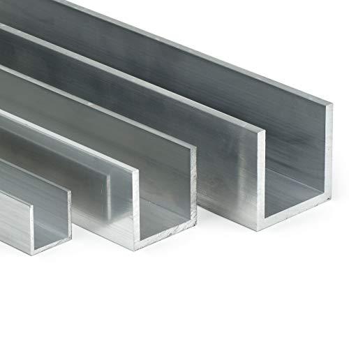 Aluminium U-Profil AlMgSi05 | BxHxS 80x50x3mm | L: 200mm (20cm) auf Zuschnitt